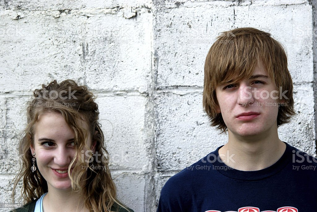 brother and sister sibling portraits royalty-free stock photo