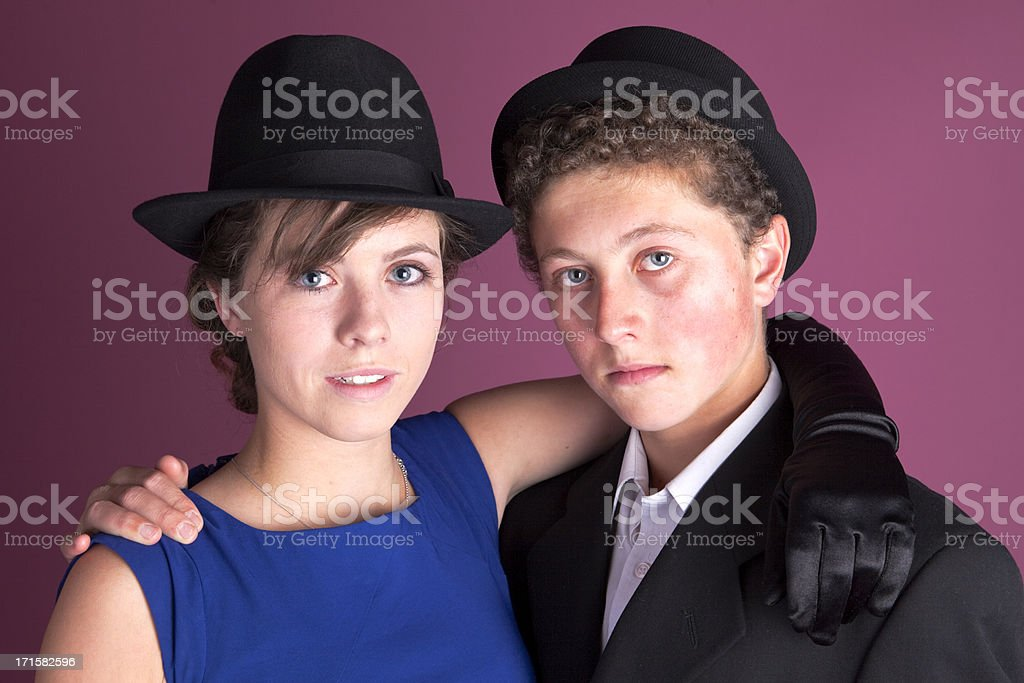 Brother And Sister Togetherness stock photo