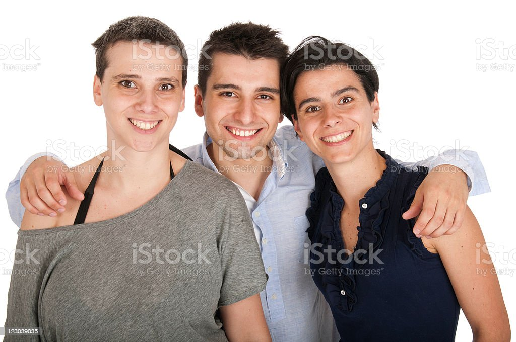 Brother and sisters royalty-free stock photo