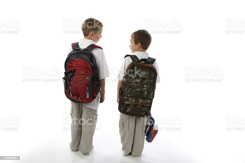 Brother Offers Advice Before School royalty-free stock photo