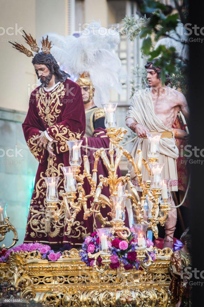 Brotherhood of Jesus corsage making station stock photo