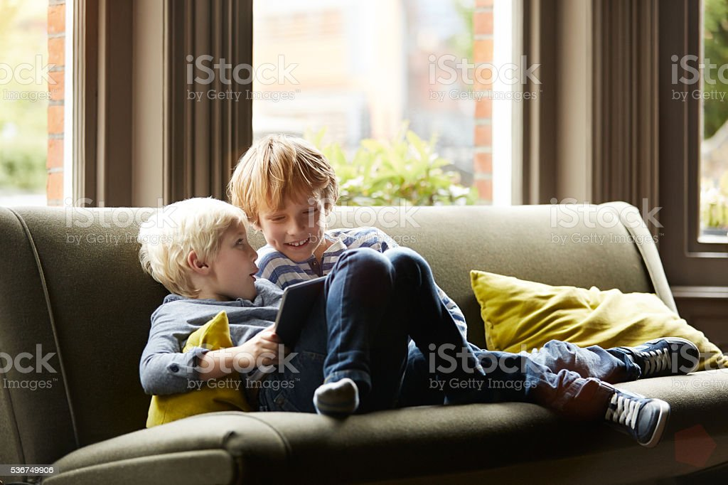 Brothers and best friends stock photo