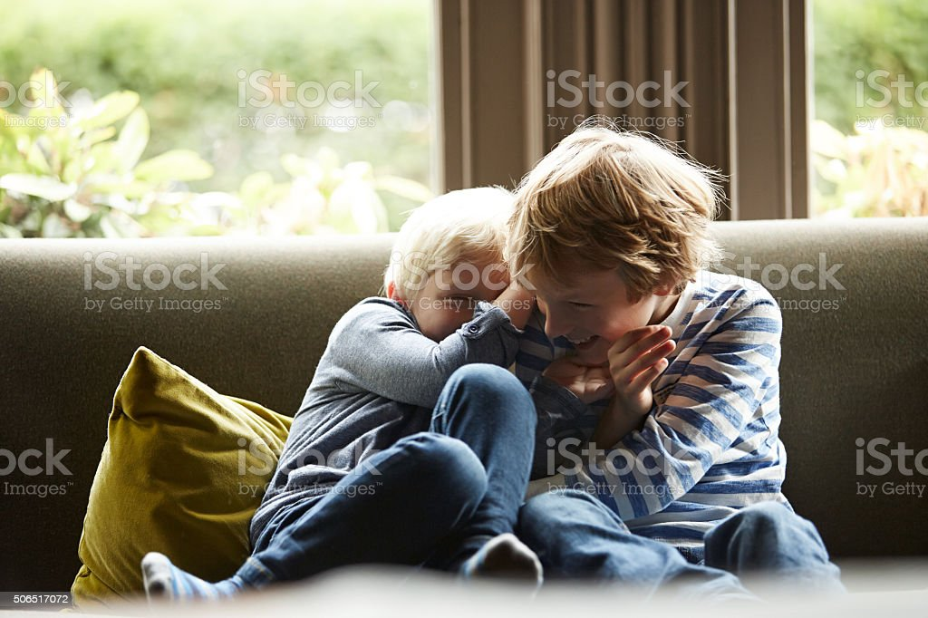 Brothers and besties stock photo