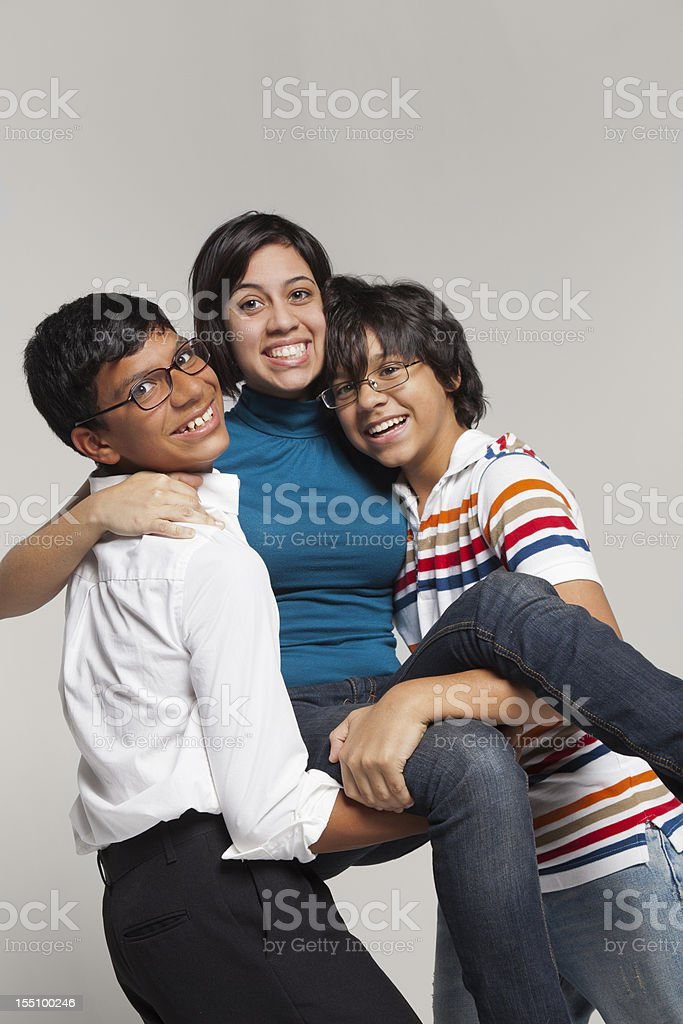 Brothers and Sister royalty-free stock photo
