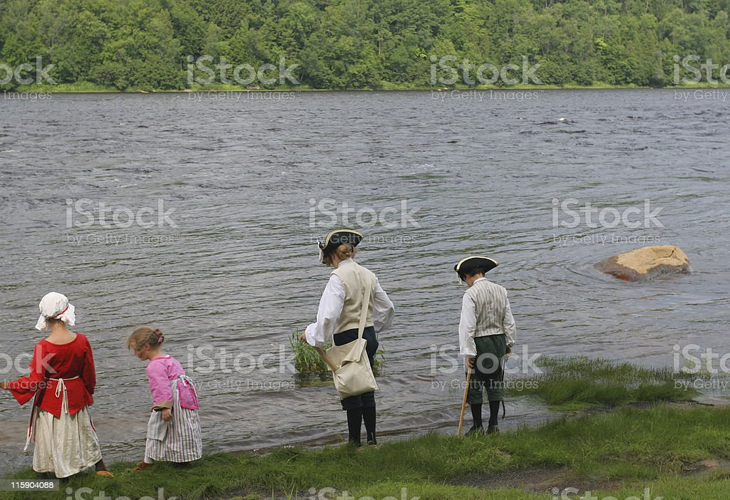 Brothers and sisters in...  1738! royalty-free stock photo