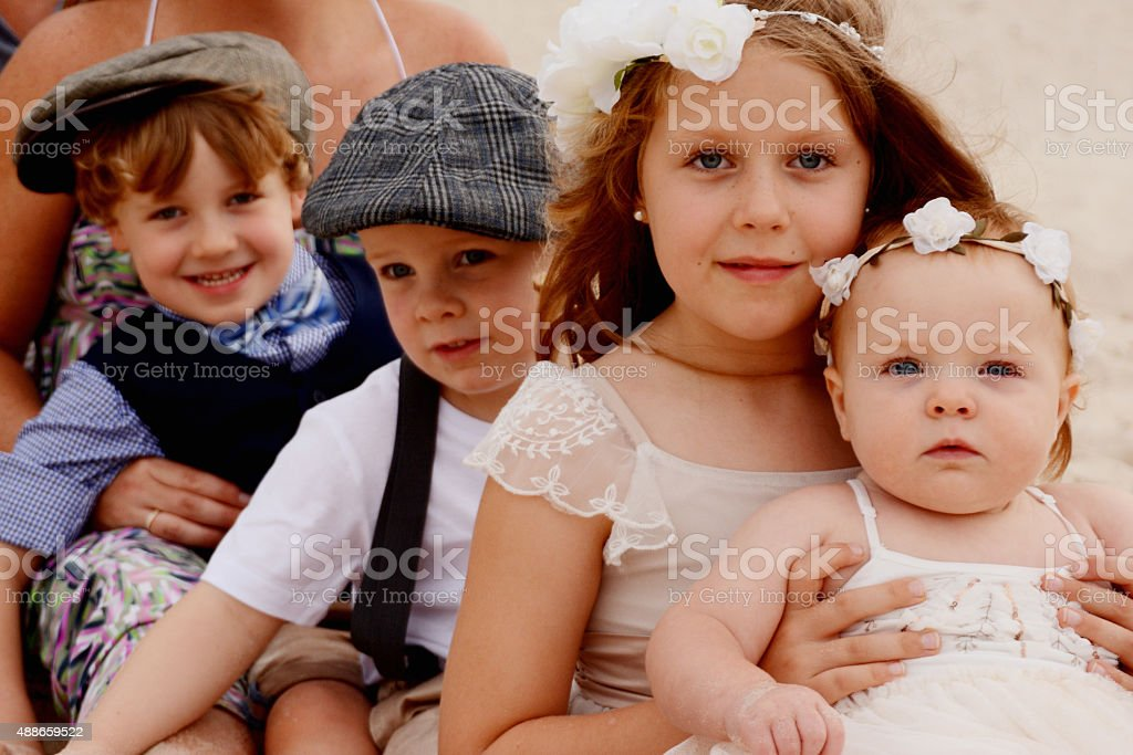 Brothers and Sisters stock photo