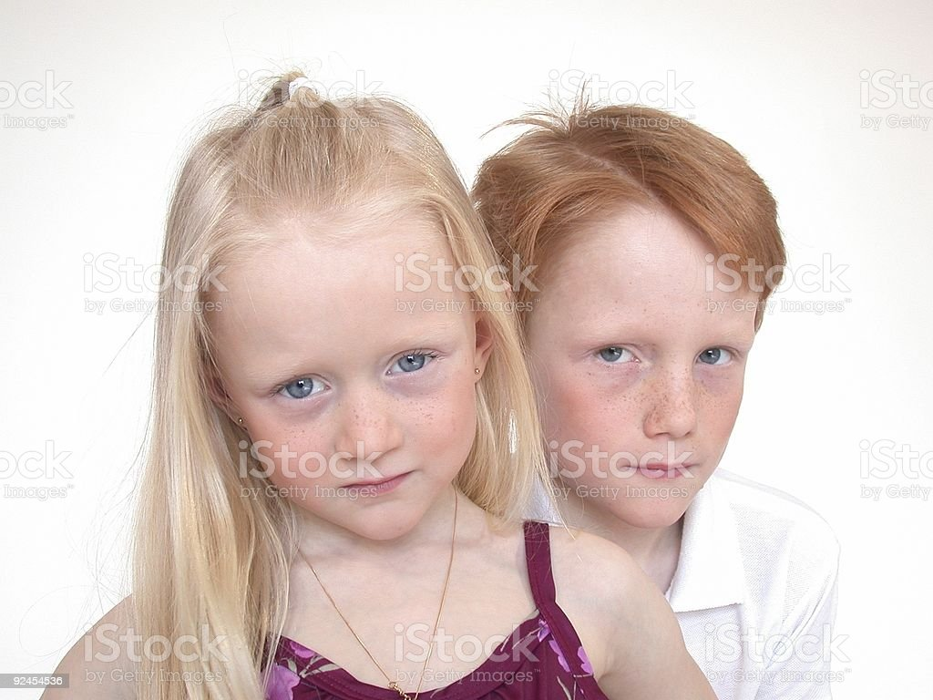 Brothers and Sisters royalty-free stock photo