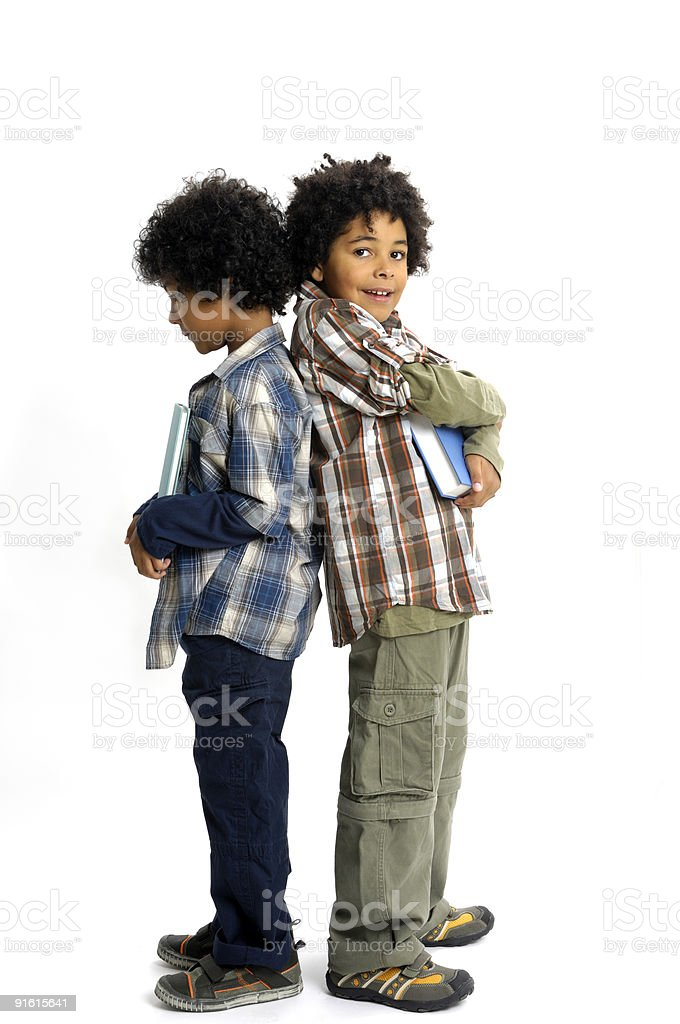 Brothers and their books royalty-free stock photo