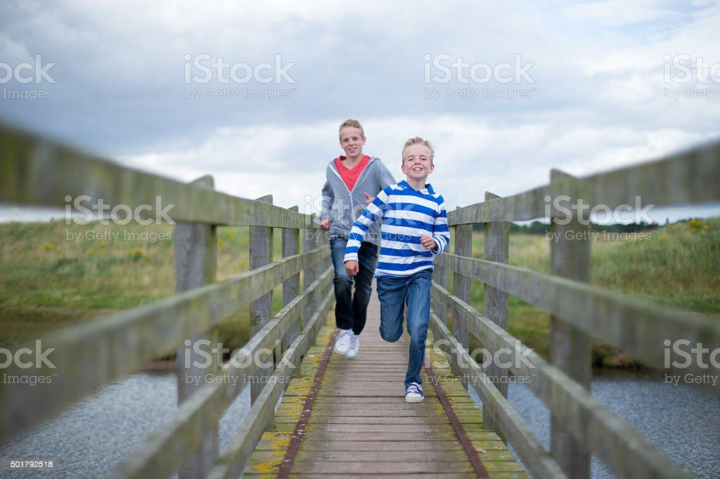 Brothers Bonding Time stock photo