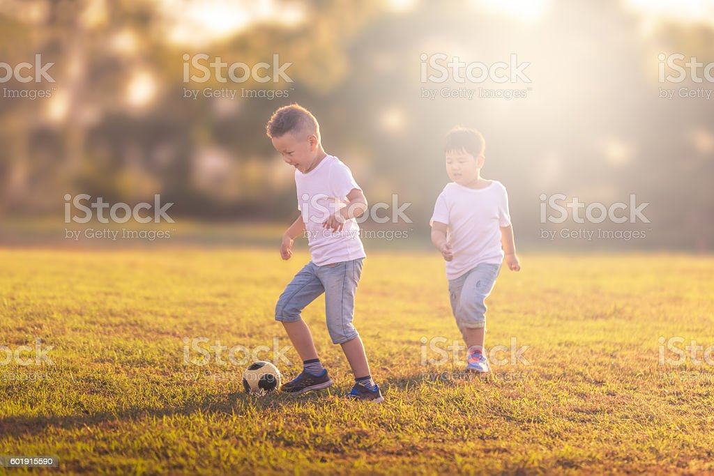 brothers enjoying time stock photo