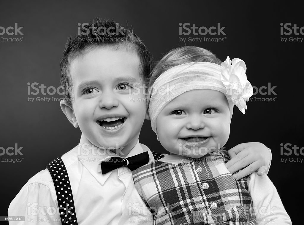 brothers fun royalty-free stock photo