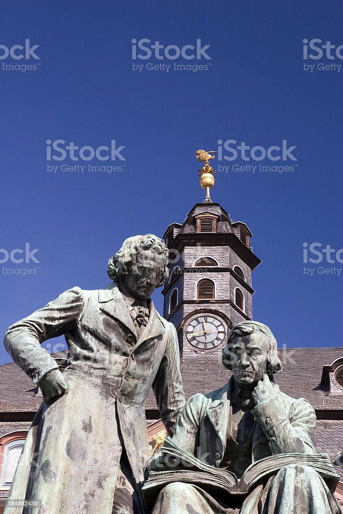 Brothers Grimm Monument stock photo