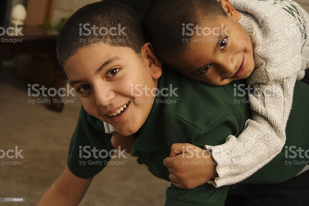 brothers having fun royalty-free stock photo