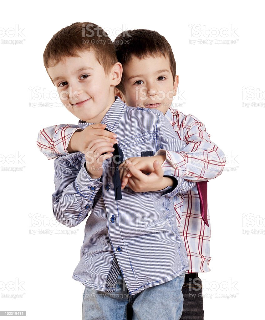 Brothers hug royalty-free stock photo