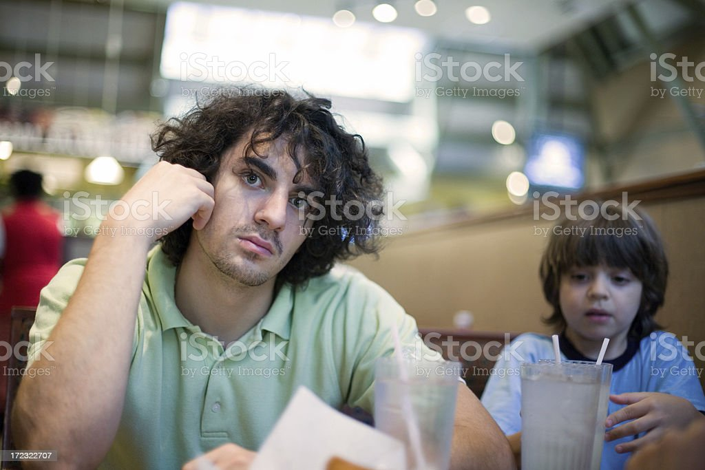 Brothers In The Restaurant royalty-free stock photo