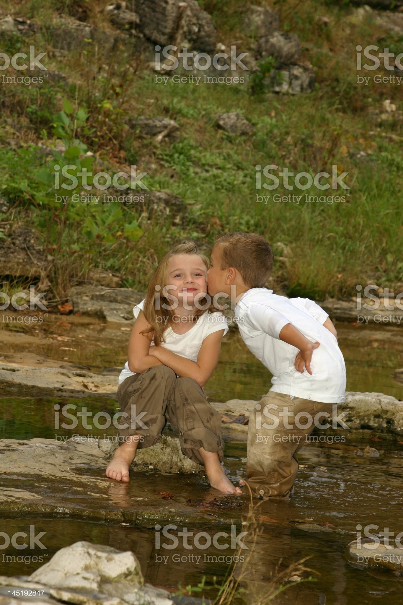 brothers kiss royalty-free stock photo