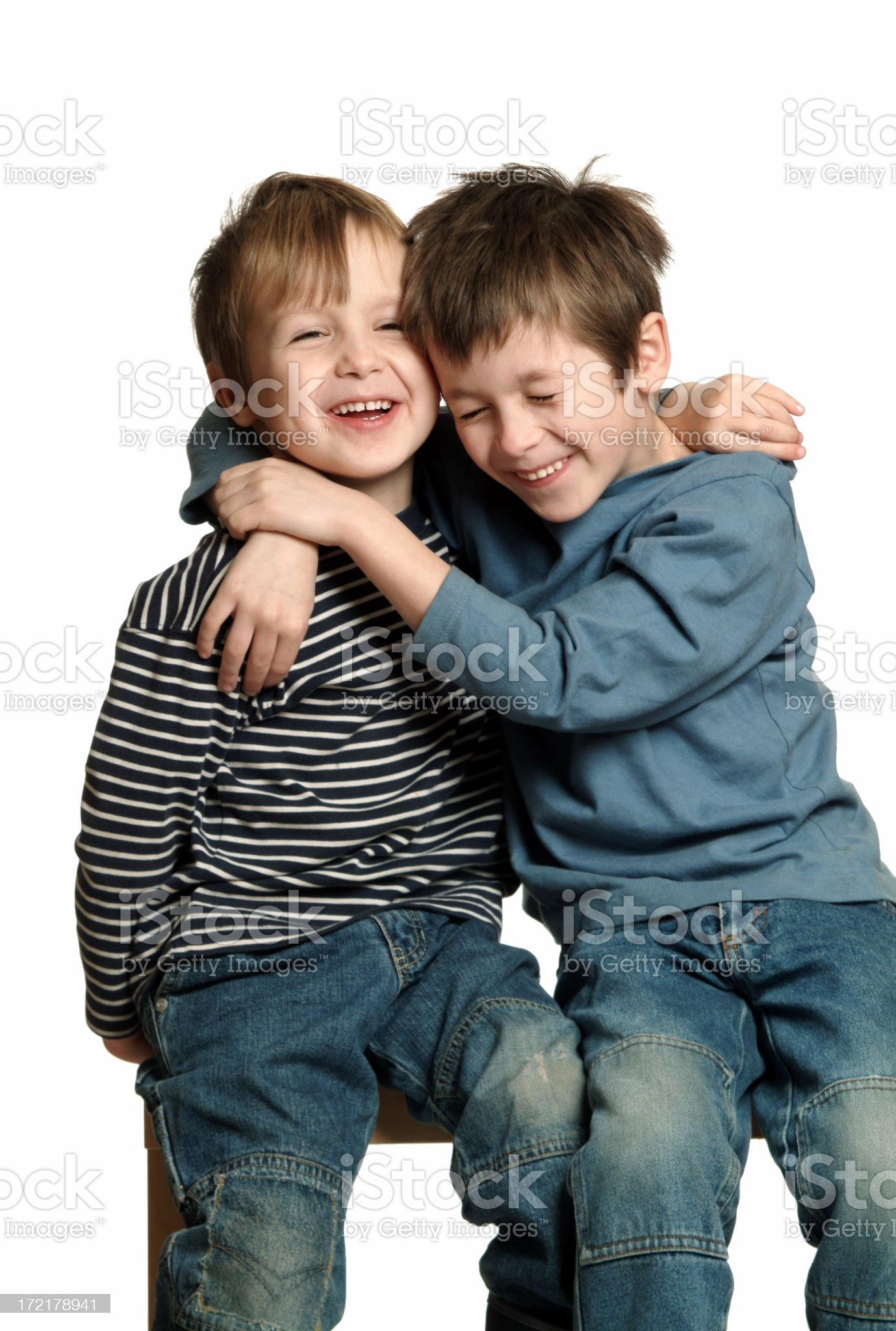 Brothers Laughing royalty-free stock photo