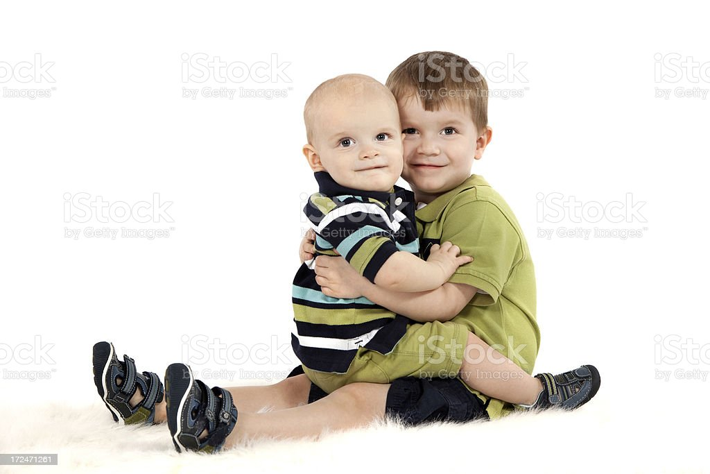 Brothers royalty-free stock photo