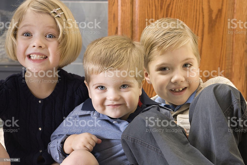 Brothers & Sister royalty-free stock photo