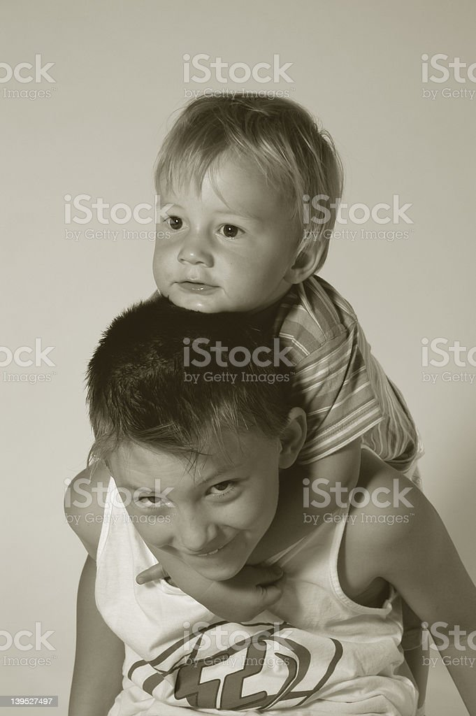 brothers X royalty-free stock photo