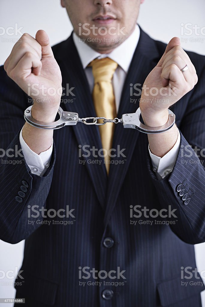 Brought to justice royalty-free stock photo