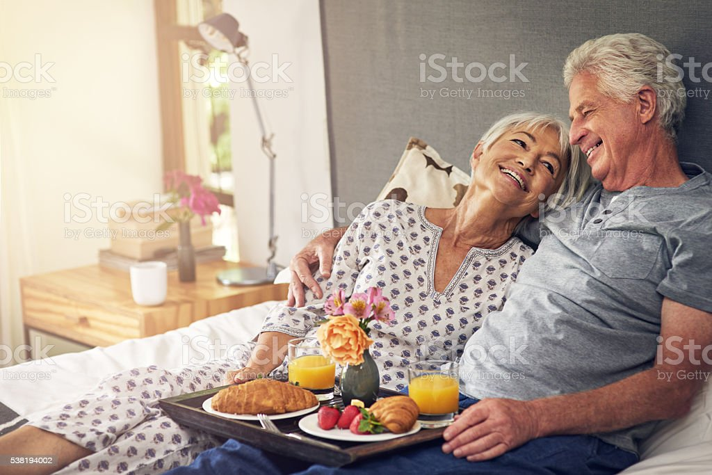 I brought you some breakfast stock photo