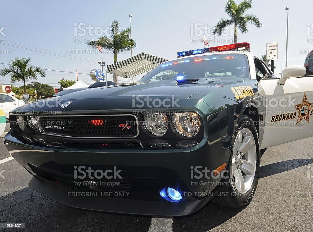 Broward County, Florida police car royalty-free stock photo