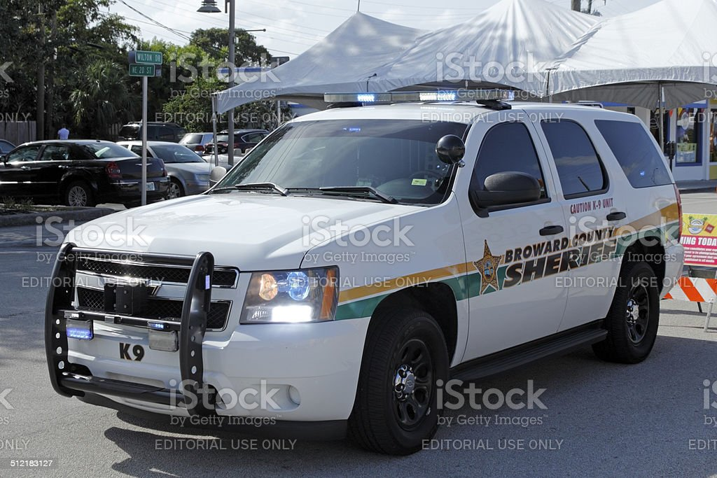 Broward County Sheriff K-9 Unit stock photo