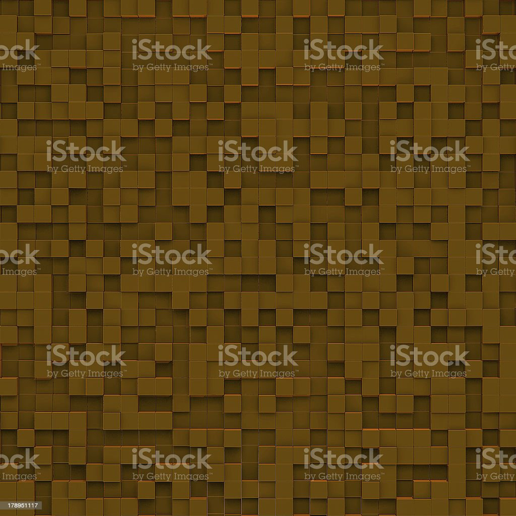 Brown abstract image of cubes background royalty-free stock photo