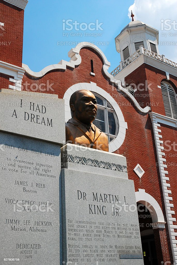 Brown AME Church, Selma Alabama stock photo