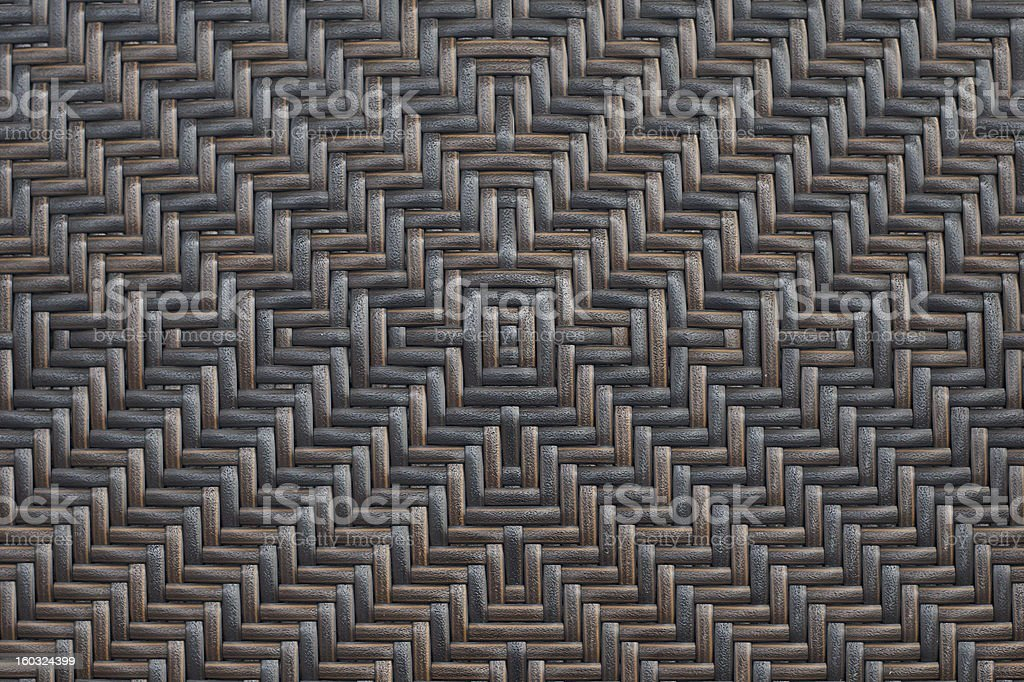 brown and black woven rattan patterns texture background stock photo