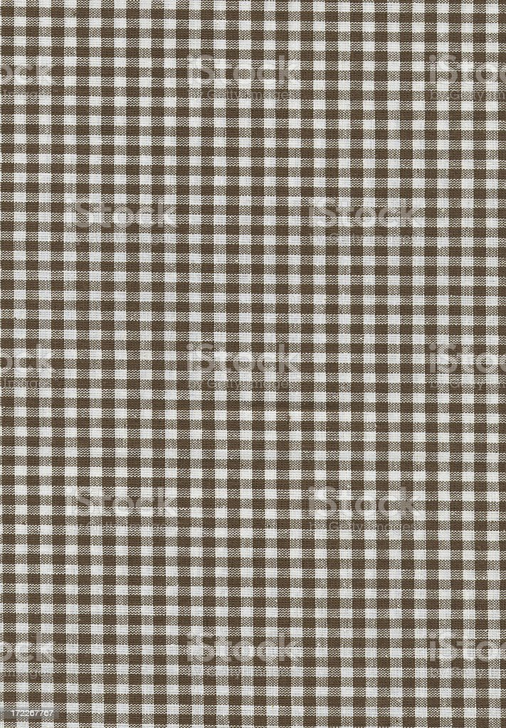 brown and white checked fabric royalty-free stock photo