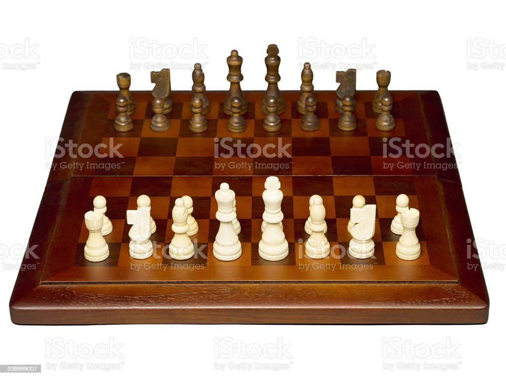 brown and white chess pieces stock photo
