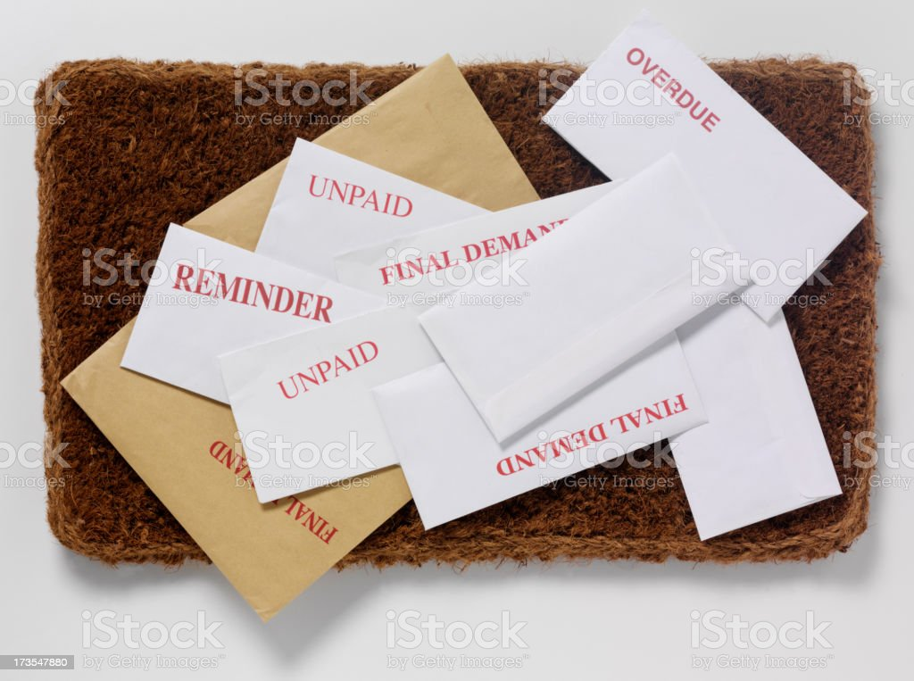 Brown and White Envelopes royalty-free stock photo