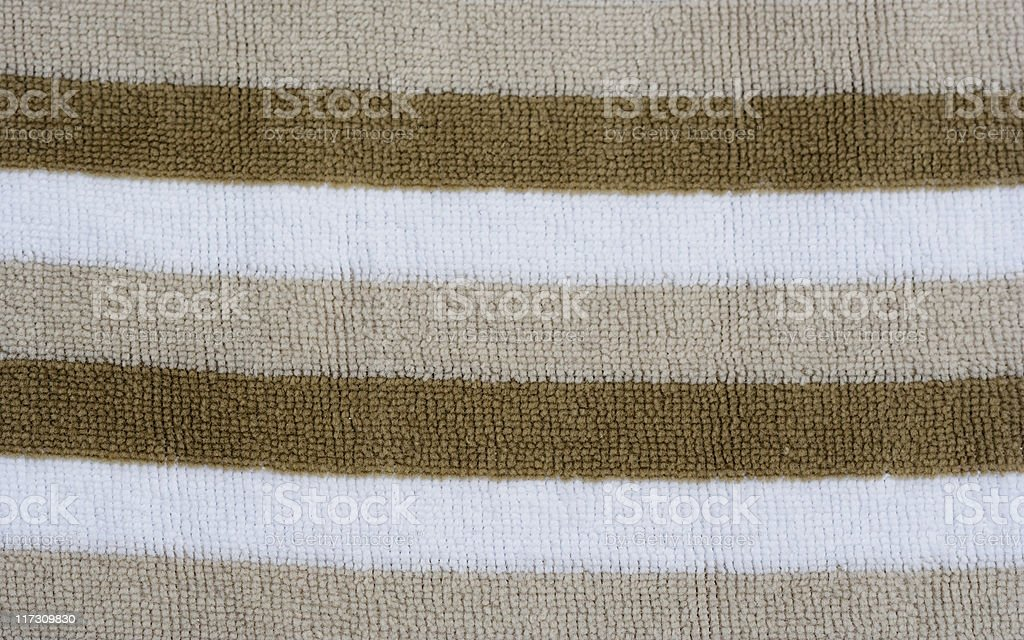 Brown and white striped fabric royalty-free stock photo