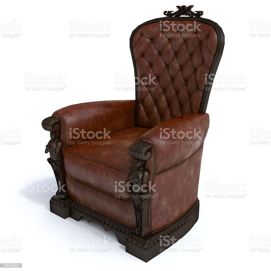 Brown armchair stock photo