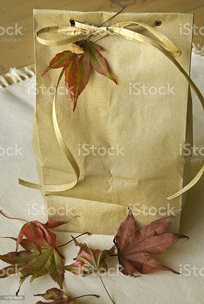 Brown Bag Lunch stock photo