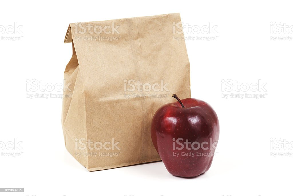 Brown bag lunch royalty-free stock photo
