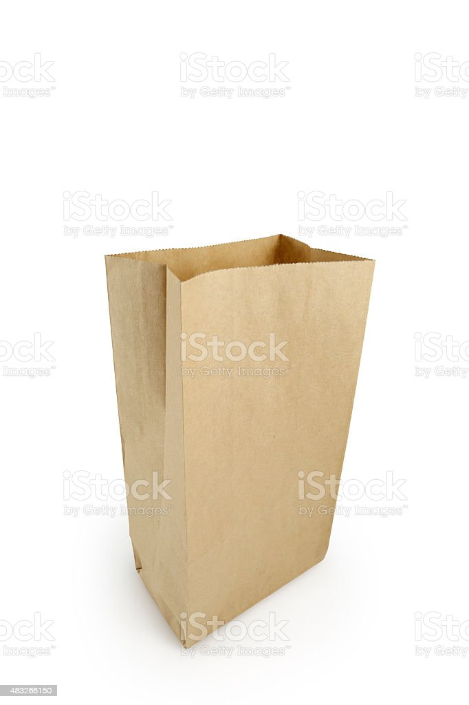 Brown Bag (Clipping Path) stock photo