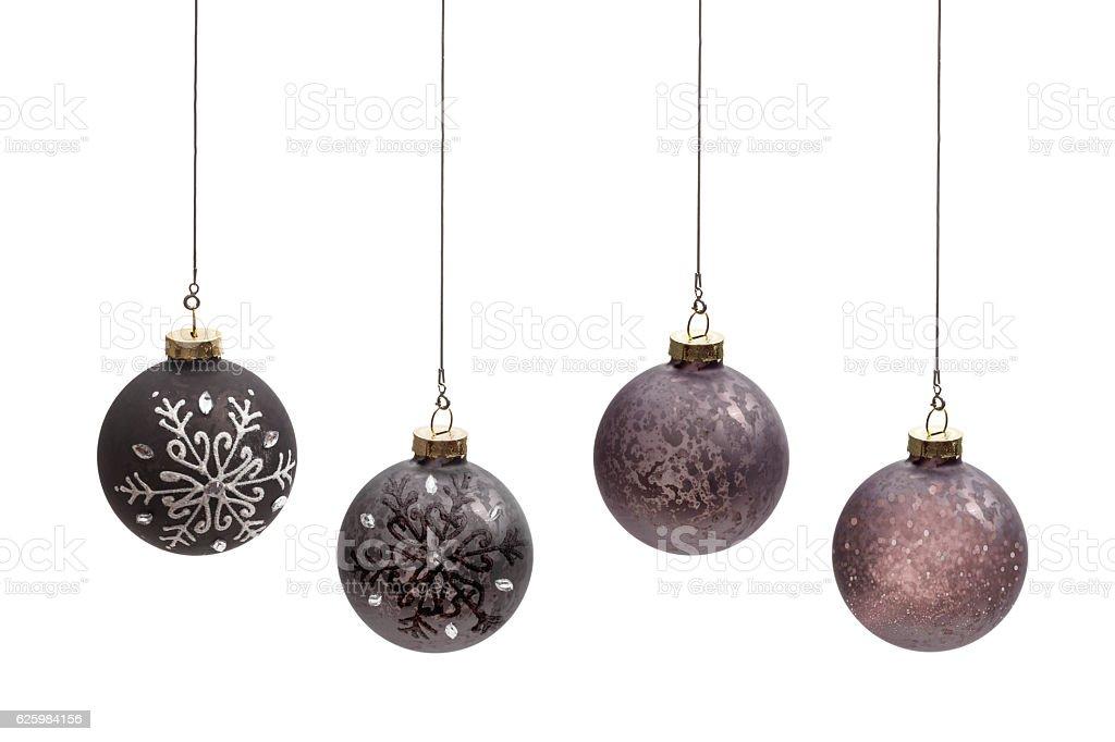 Brown balls christmas stock photo