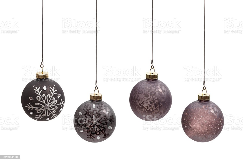 Brown balls christmas stock photo