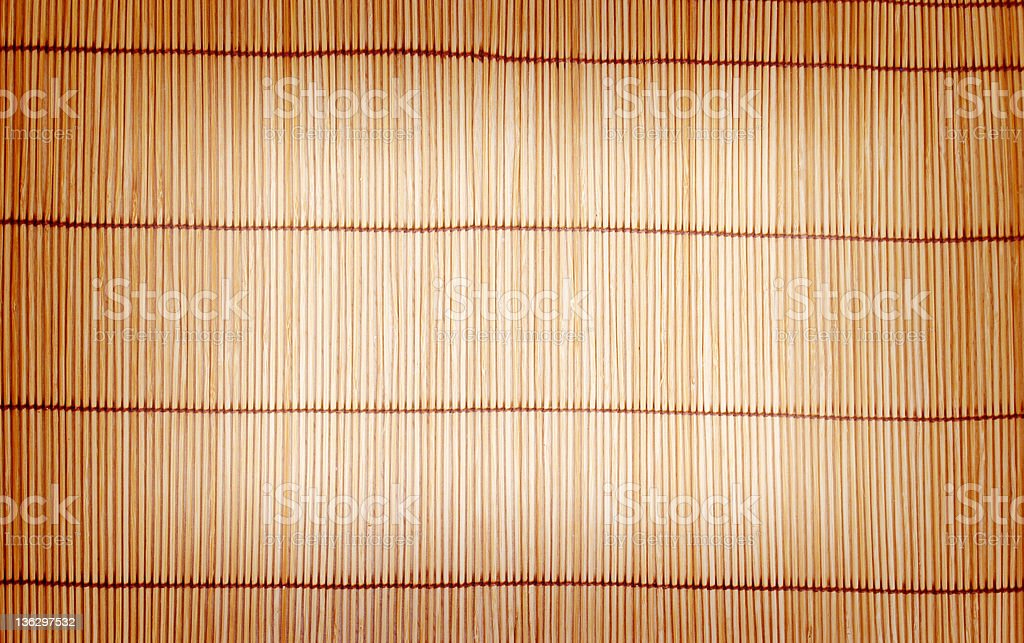 brown bamboo matting background and texture royalty-free stock photo