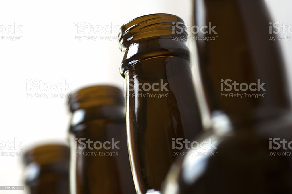 Brown beer bottles royalty-free stock photo