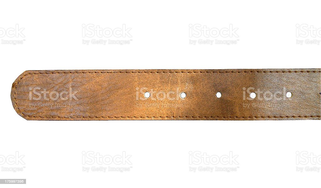 Brown Belt Holes royalty-free stock photo