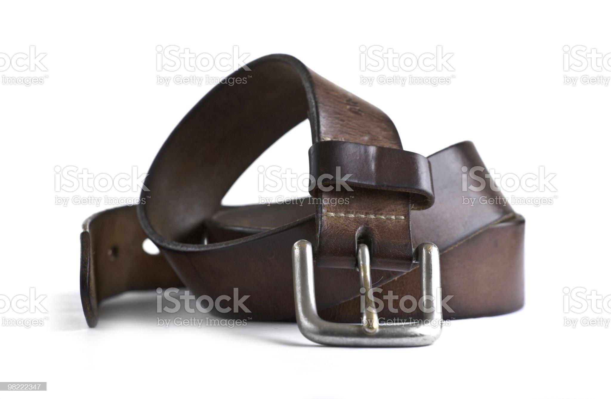 Brown Belt royalty-free stock photo