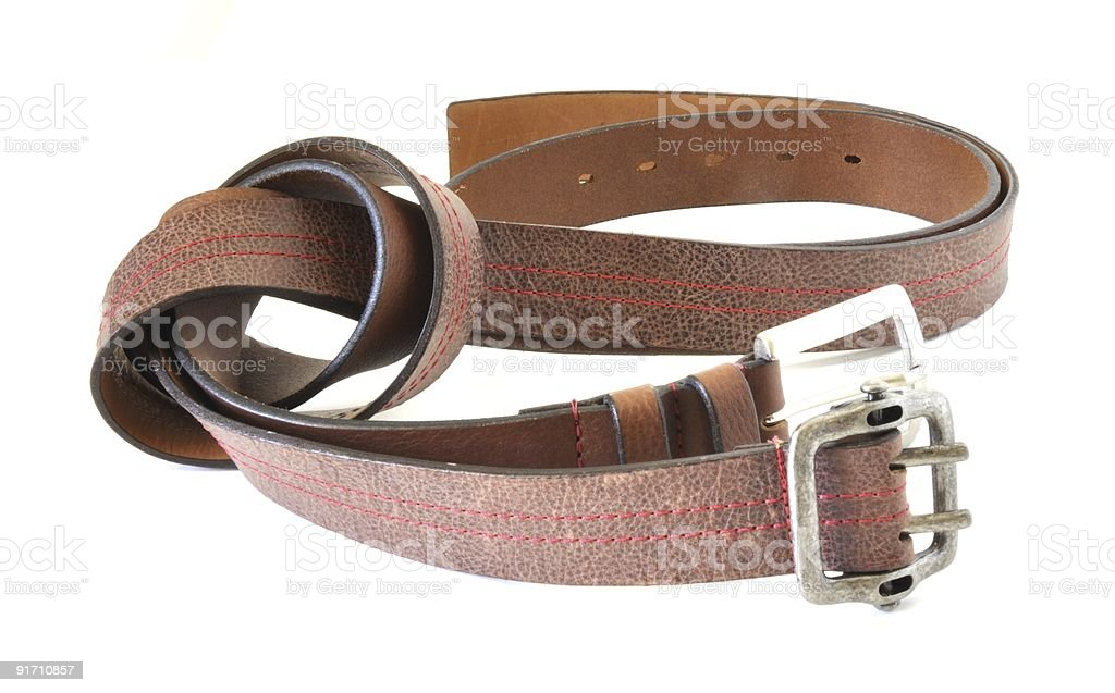 Brown Belts royalty-free stock photo