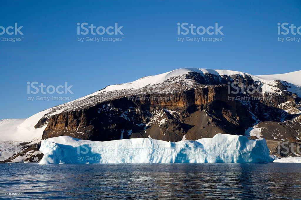 Brown Bluff Antarctica Mountain Peak stock photo