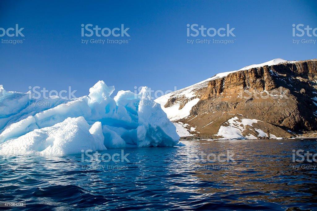 Brown Bluff Antarctica Peninsula stock photo