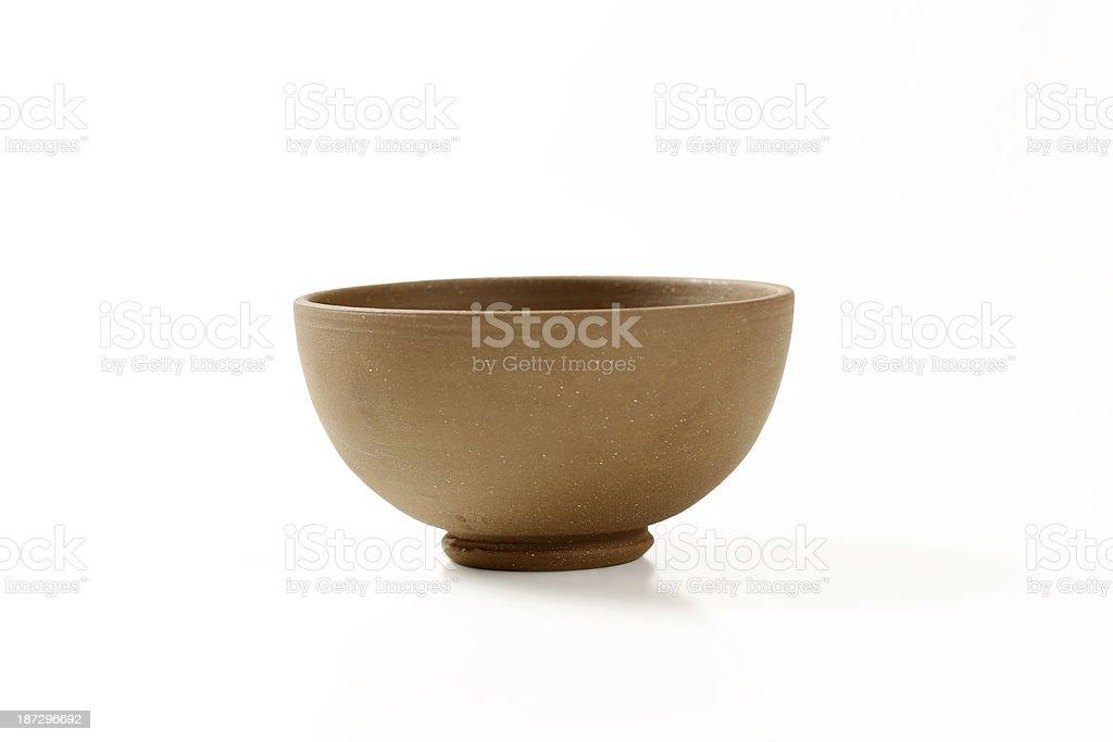 brown bowl royalty-free stock photo