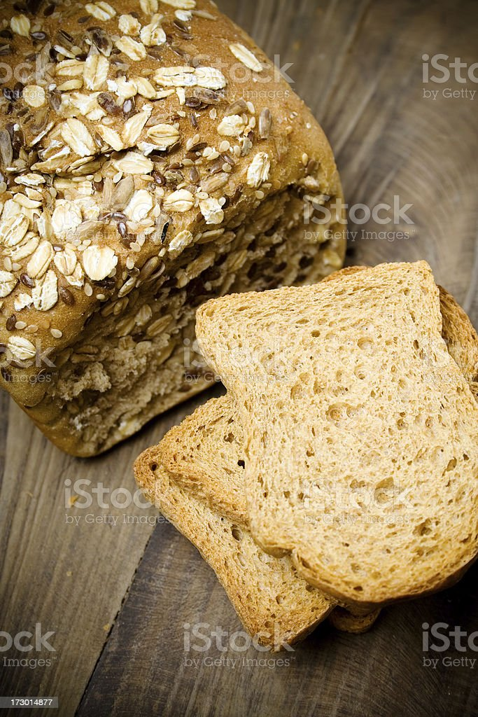 Brown bread & toast royalty-free stock photo